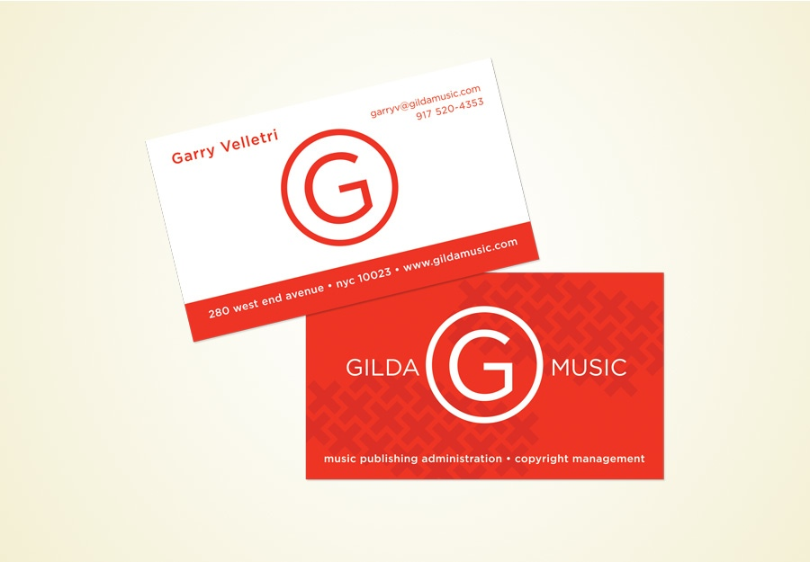 Gilda Music logo and stationery