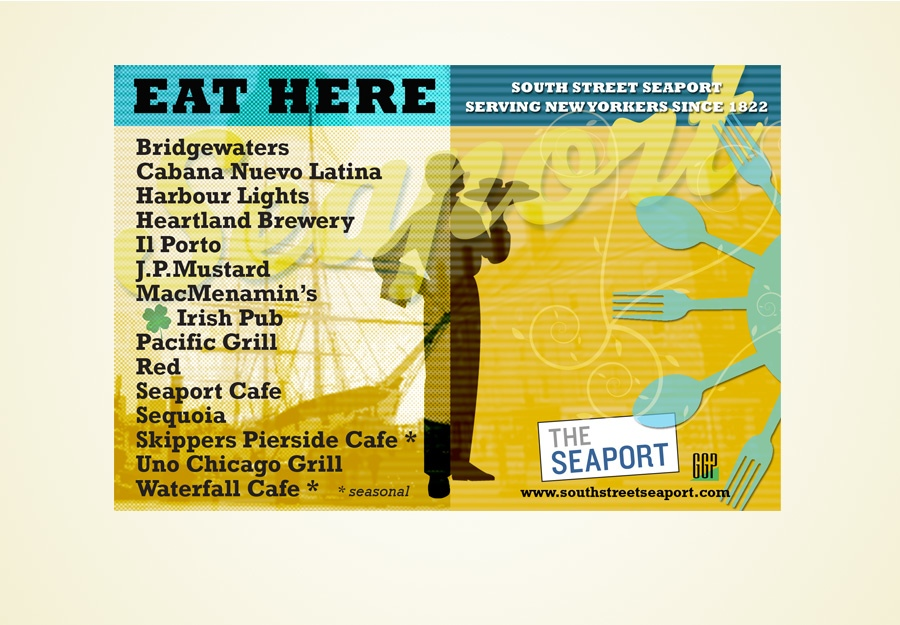 South Street Seaport restaurant ad